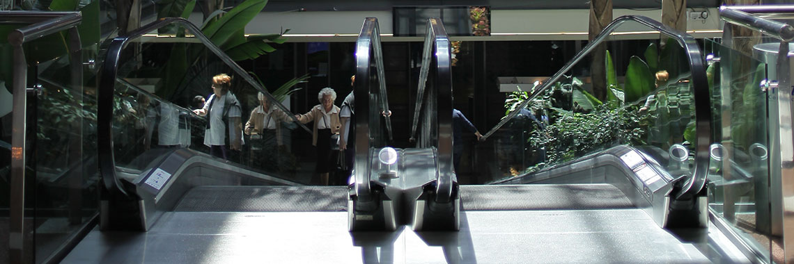 Access escalators of Gran Plaza Commercial Park