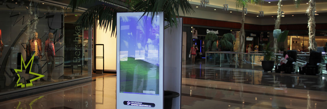 Advertising Screens in Gran Plaza